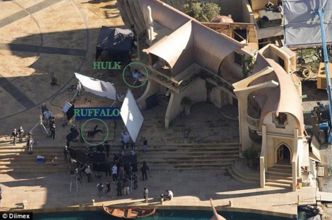 Le tracce di Hulk sul set di Thor: Ragnarok