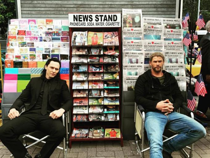 Tom Loki Hiddleston e Chris Thor Hemsworth