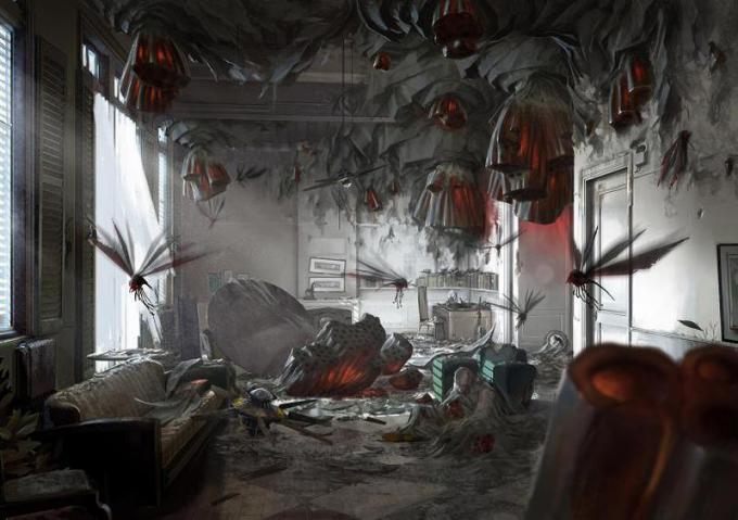 Creature volanti devastano un appartamento
