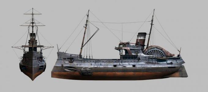 Studio di un mezzo navale, digitale