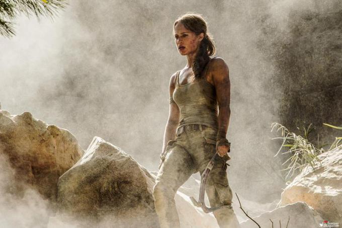 Alicia Vikander in Tomb Raider  - Foto di Ilze Kitshoff