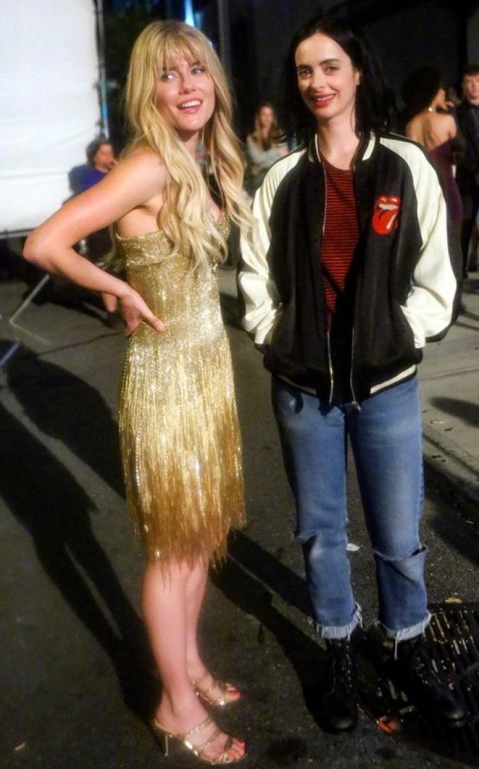 Rachael Taylor (Trish Walker) e Krysten Ritter (Jessica Jones) in Jessica Jones 2