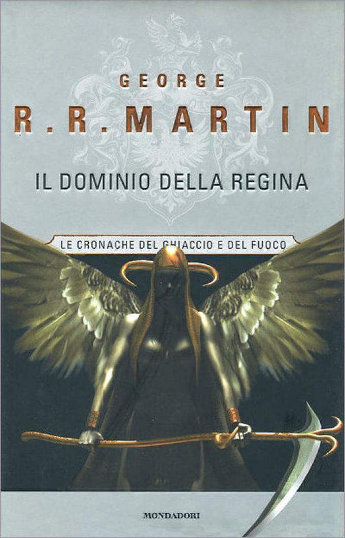 La copertina di Il dominio della regina nell'edizione rilegata Mondadori.