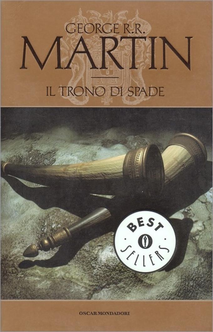 La copertina di Il trono di spade nell'edizione economica Mondadori.