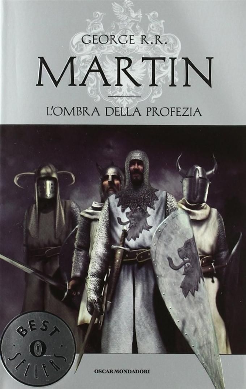 La copertina di L'ombra della profezia nell'edizione economica Mondadori.
