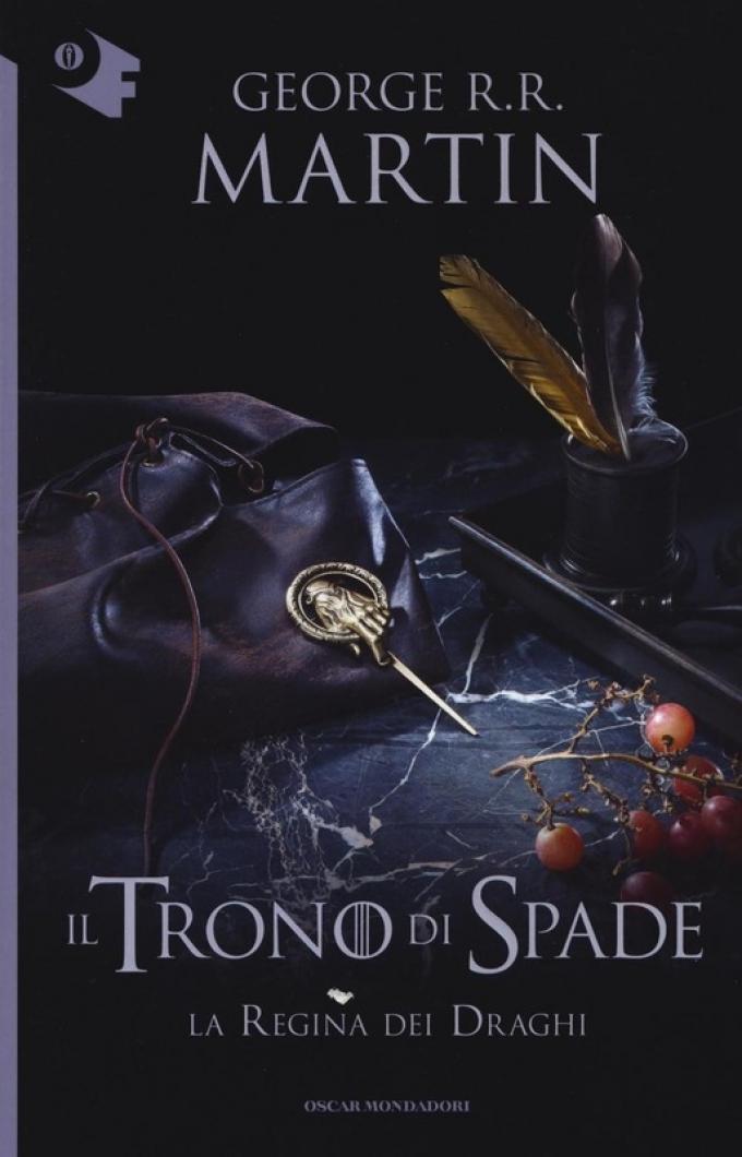 La copertina di La regina dei draghi nella collana Oscar fantastica di Mondadori.