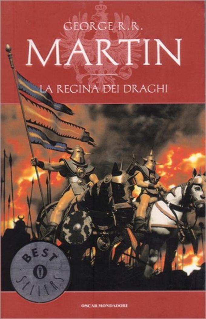 La copertina di La regina dei draghi nell'edizione economica Mondadori.
