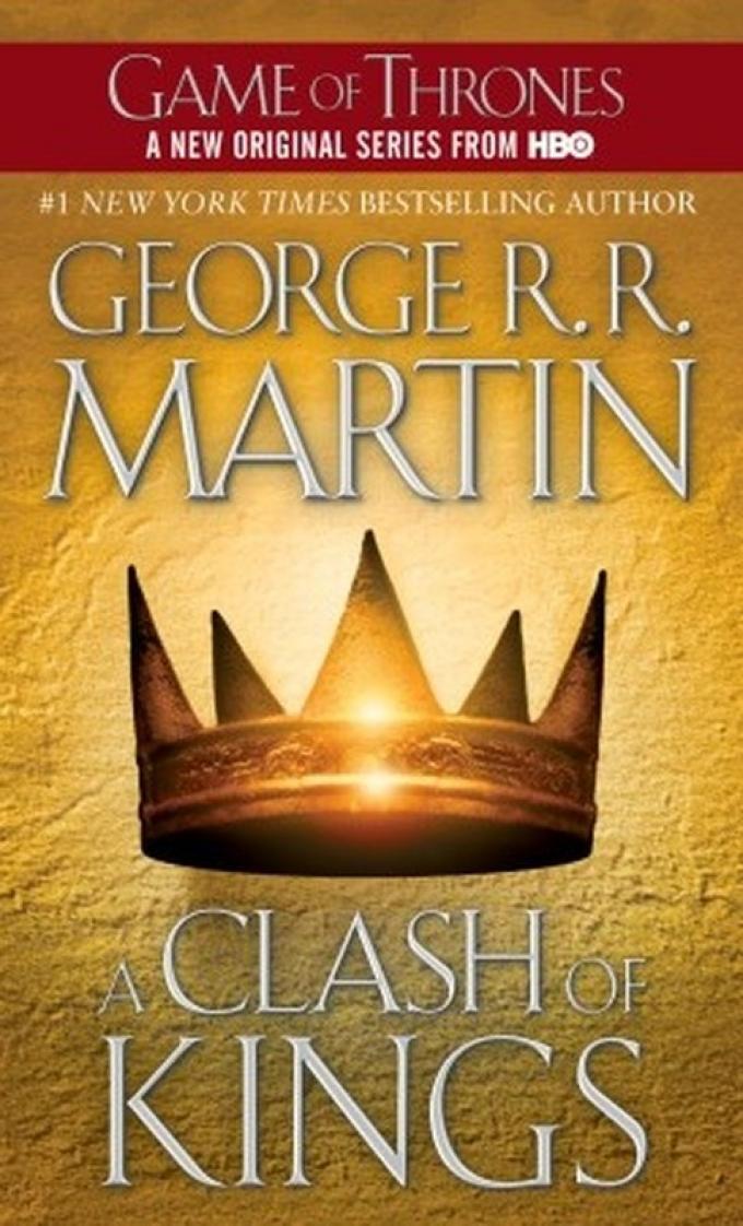 La copertina dell'edizione economica di A Clash of Kings realizzata da HarperCollins nel 2011.