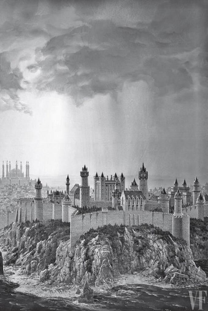 Ted Nasmith, La Fortezza Rossa ad Approdo del Re