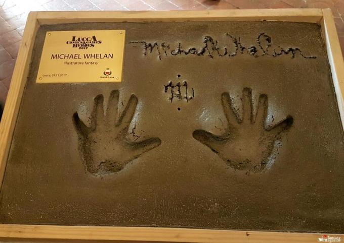 L'impronta delle mani di Michael Whelan