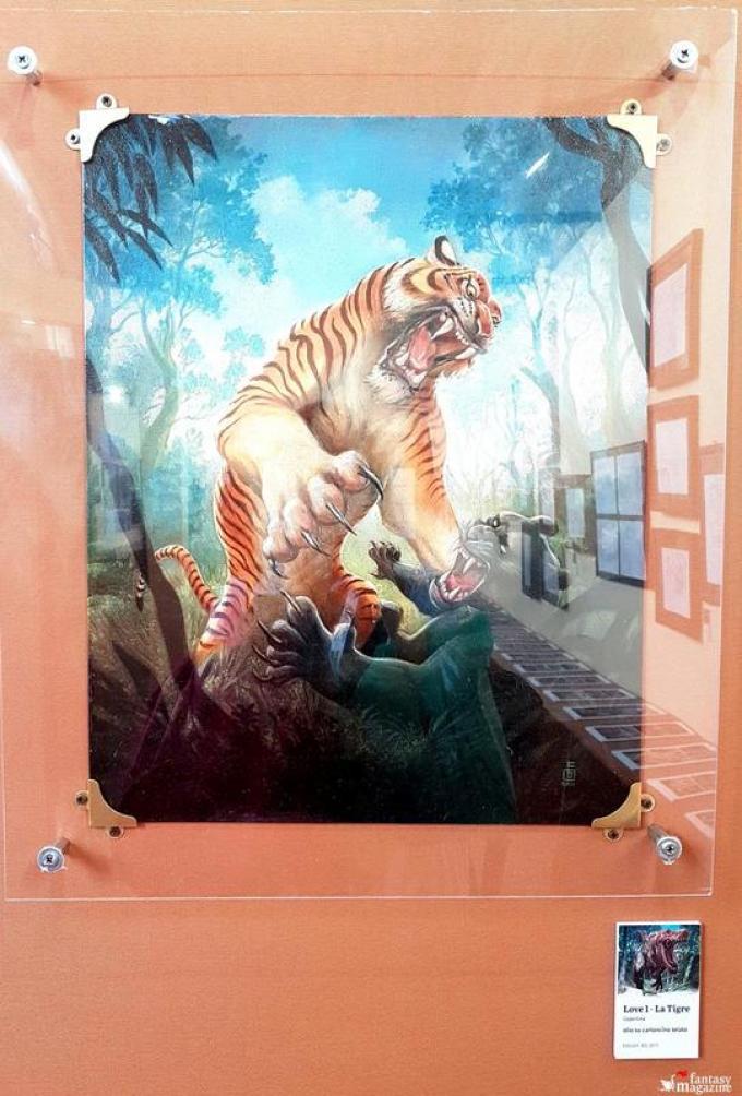 Love - La tigre, illustrazione di copertina di Federico Bertolucci