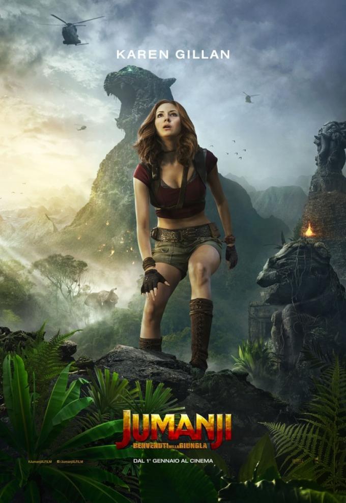 Il poster ufficiale di Karen Gillan