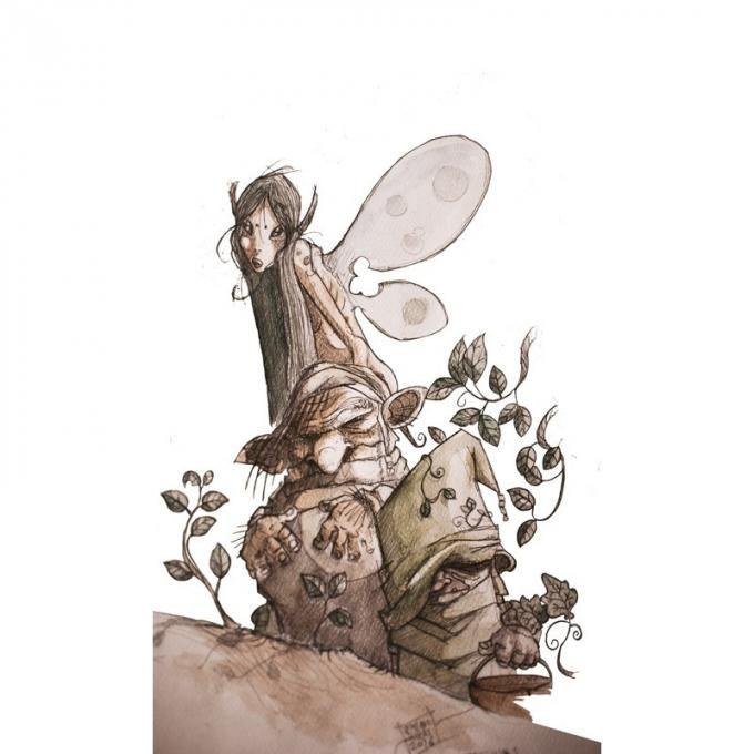 I mangiadraghi - Disegno di Emiliano Billai