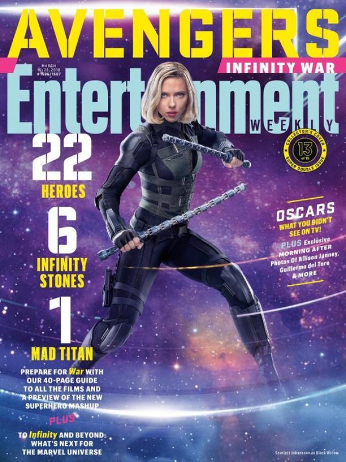 La cover di Entertainment Weekly dedicata a Black Widow