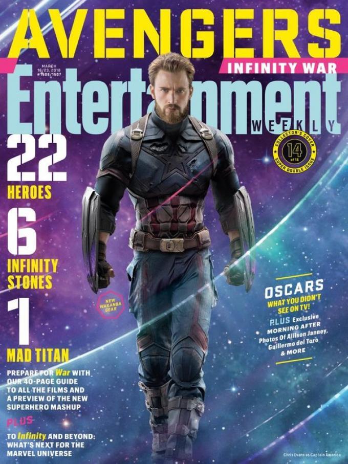 La cover di Entertainment Weekly dedicata a Captain America