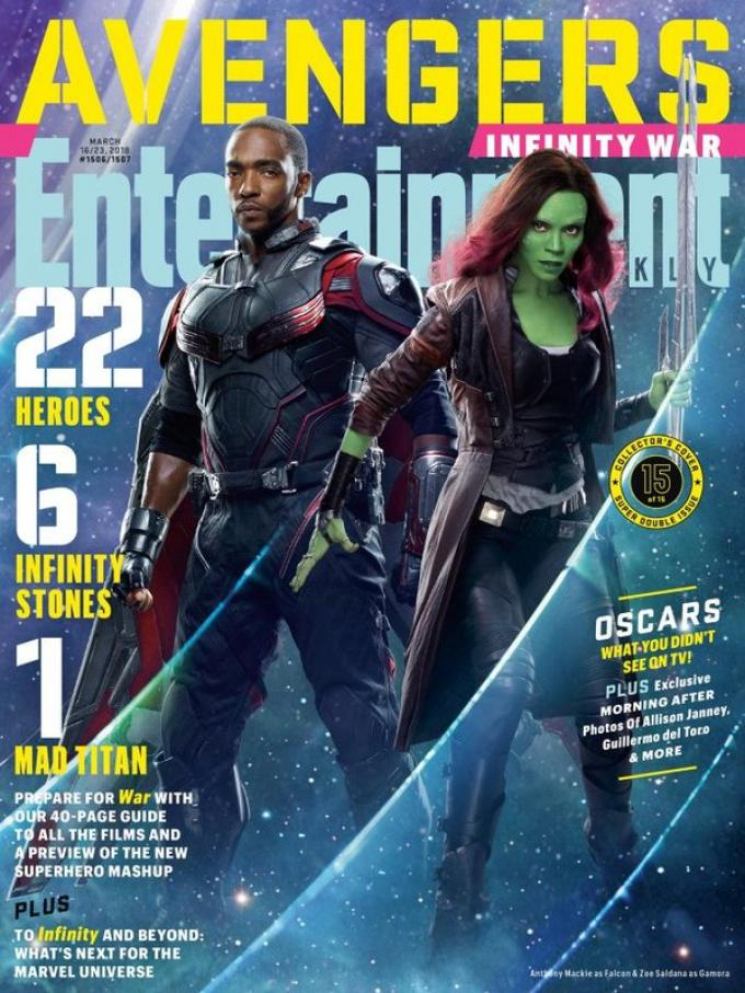 La cover di Entertainment Weekly dedicata a Falcon e Gamora