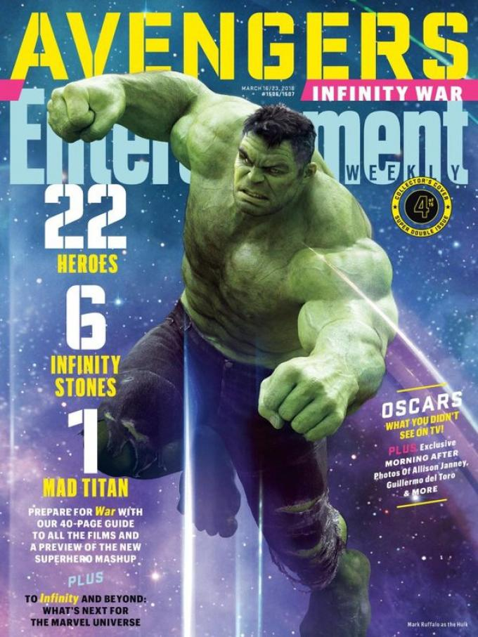 La cover di Entertainment Weekly dedicata a Hulk
