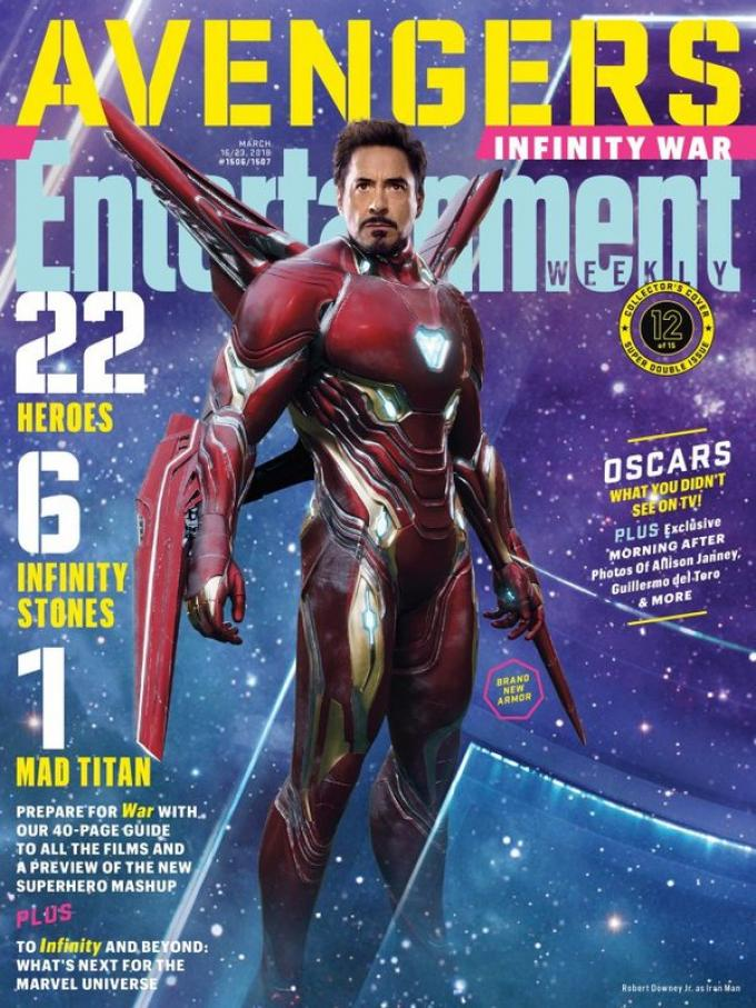 La cover di Entertainment Weekly dedicata a Iron Man