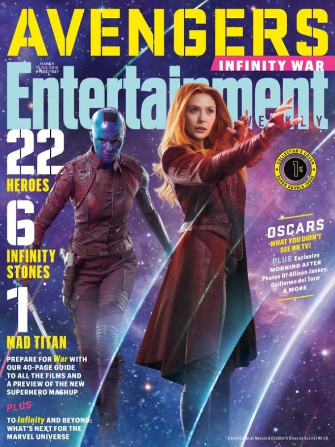La cover di Entertainment Weekly dedicata a Nebula e Scarlet Witch