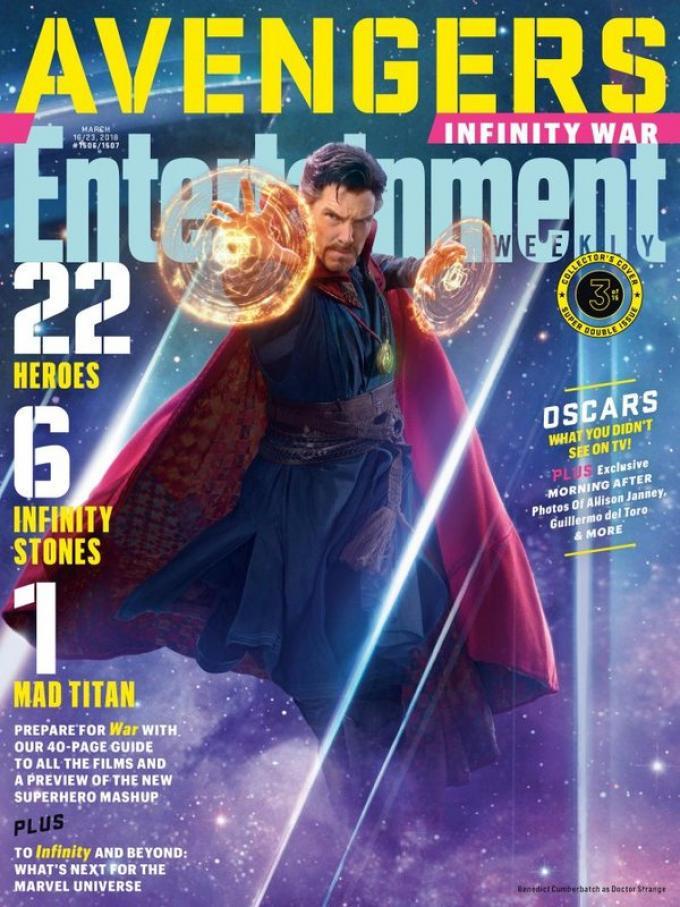 La cover di Entertainment Weekly dedicata a Doctor Strange