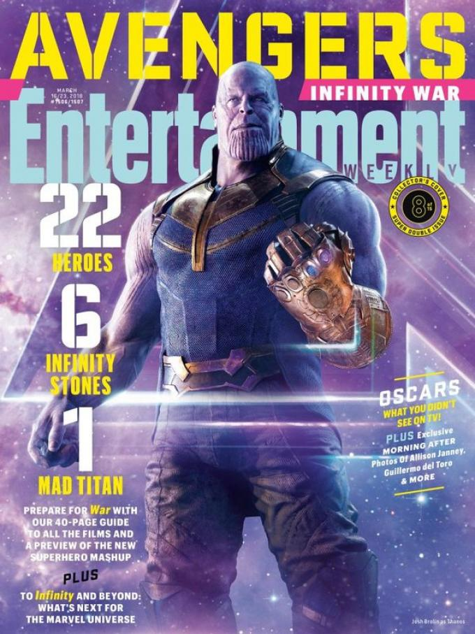 La cover di Entertainment Weekly dedicata a Thanos