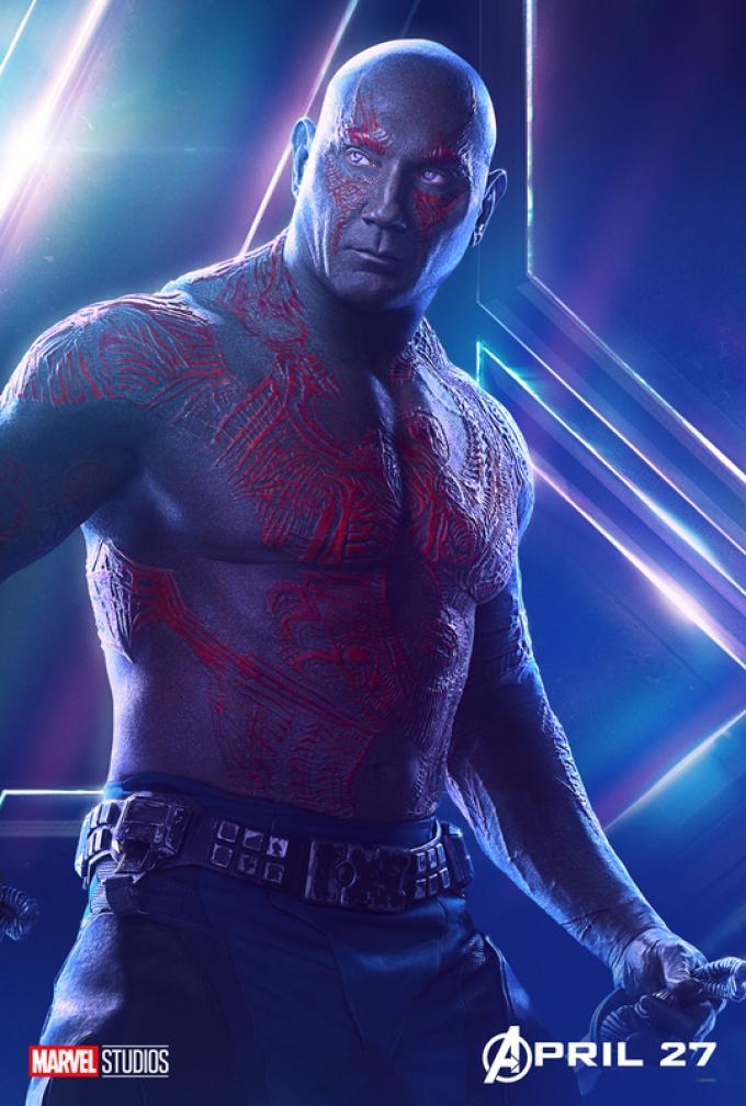 Drax (Dave Bautista) è al suo terzo film, ma i Guardiani della Galassia devono ancora vivere la loro terza avventura solitaria.
