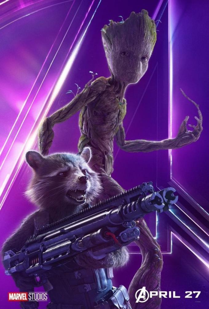 Groot (VIn Diesel) e Rocket (Bradley Cooper) attendono di menare le mani in attesa di Guardiani della Galassia Vol. 3