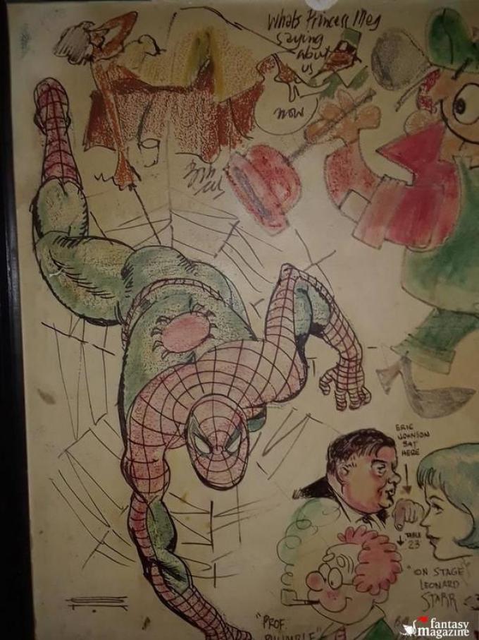 Foto scattata alla parete di fumetti del bar Overlook da Andres Schiffino. (Fonte  Atlasobscura.com)