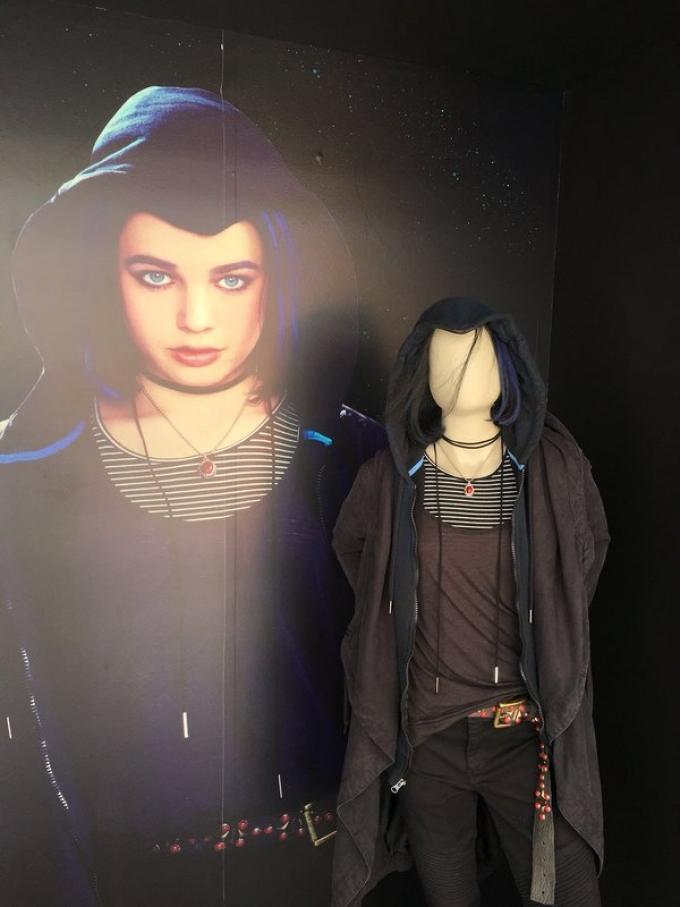 Il costume di Raven, dalla San Diego Comic-Con 2018. (Foto da Comicbookmovie.com)