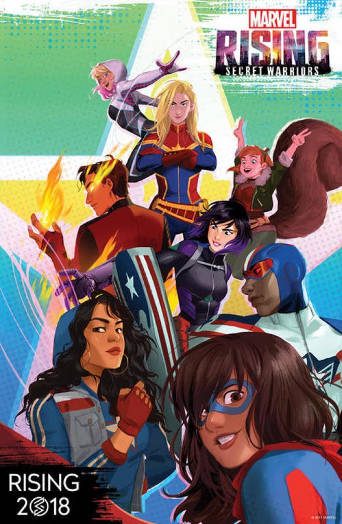 La locandina di Marvel Rising Secret Warriors