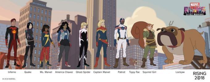 I protagonisti di Marvel Rising
