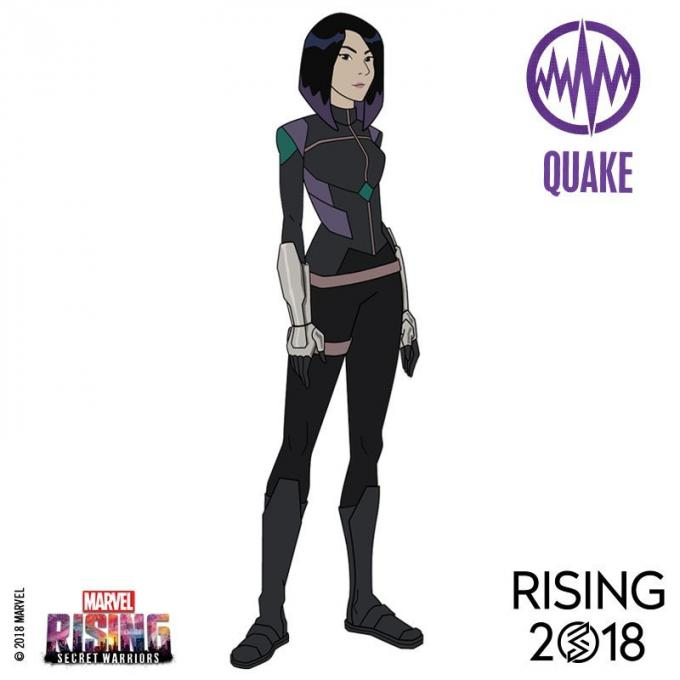 I protagonisti di Marvel Rising: Quake