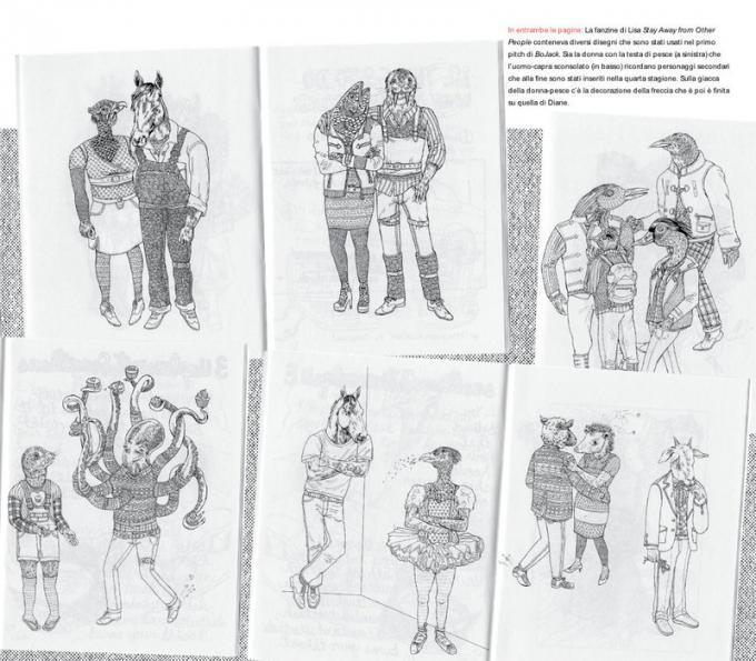 Studi dei personaggi tratti dal libro BoJack Horseman - Tutto quello che avreste sempre voluto sapere