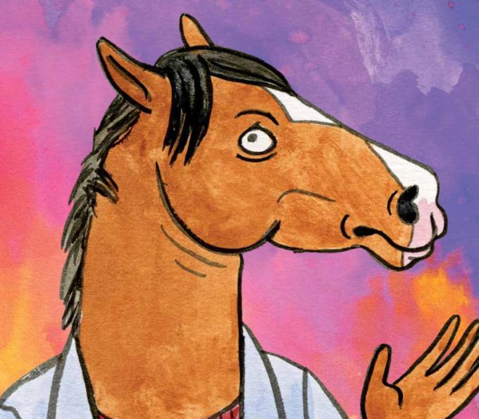 Un disegno tratto dal libro BoJack Horseman - Tutto quello che avreste sempre voluto sapere