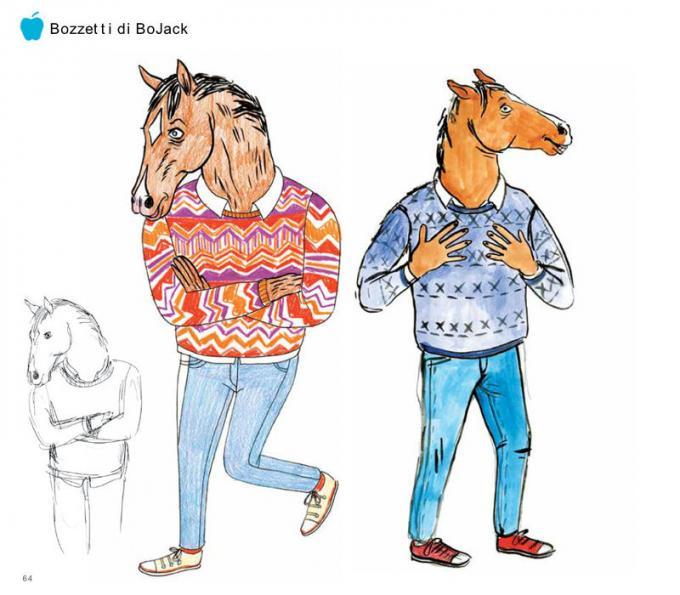 Bozzetti del protagonista tratti dal libro BoJack Horseman - Tutto quello che avreste sempre voluto sapere