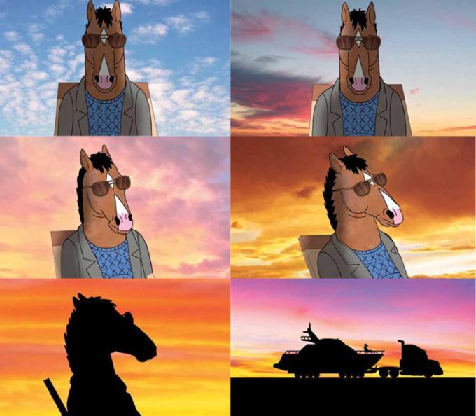 Uno storyboard tratto dal libro BoJack Horseman - Tutto quello che avreste sempre voluto sapere