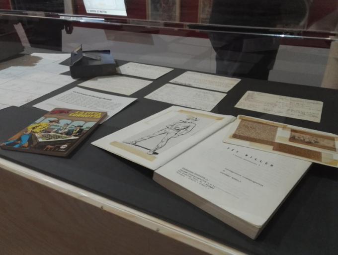 Alcuni documenti originali scritti da Gianluigi Bonelli alla mostra Tex. 70 anni di un mito.