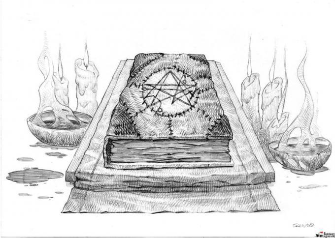 Necronomicon - Disegno di Jacopo Schiavo