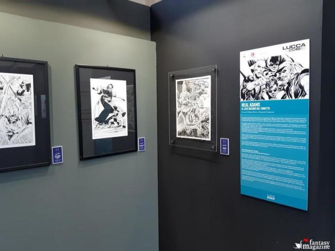 La mostra di Neal Adams al Palazzo Ducale a Lucca Comics and Games. Foto di Maurizio Carnago
