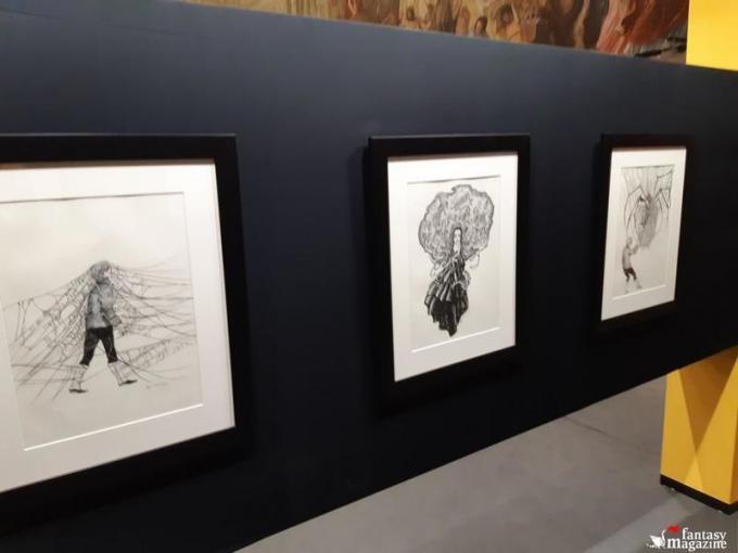 La mostra di Benjamin Lacombe al Palazzo Ducale a Lucca Comics and Games. Foto di Maurizio Carnago