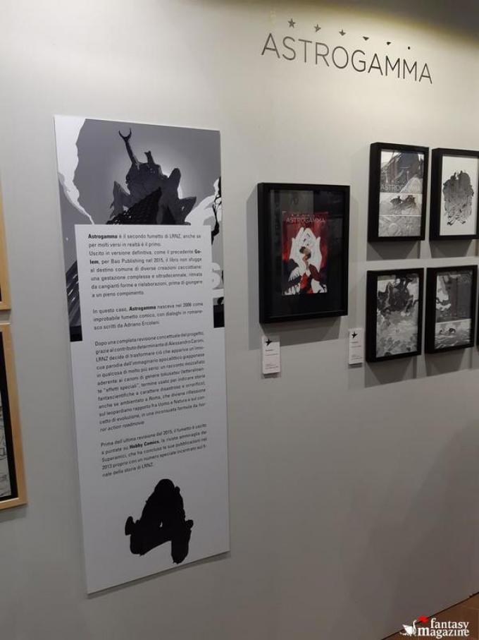 La mostra di Lorenzo Ceccotti, in arte LRNZ, al Palazzo Ducale a Lucca Comics and Games. Foto di Maurizio Carnago