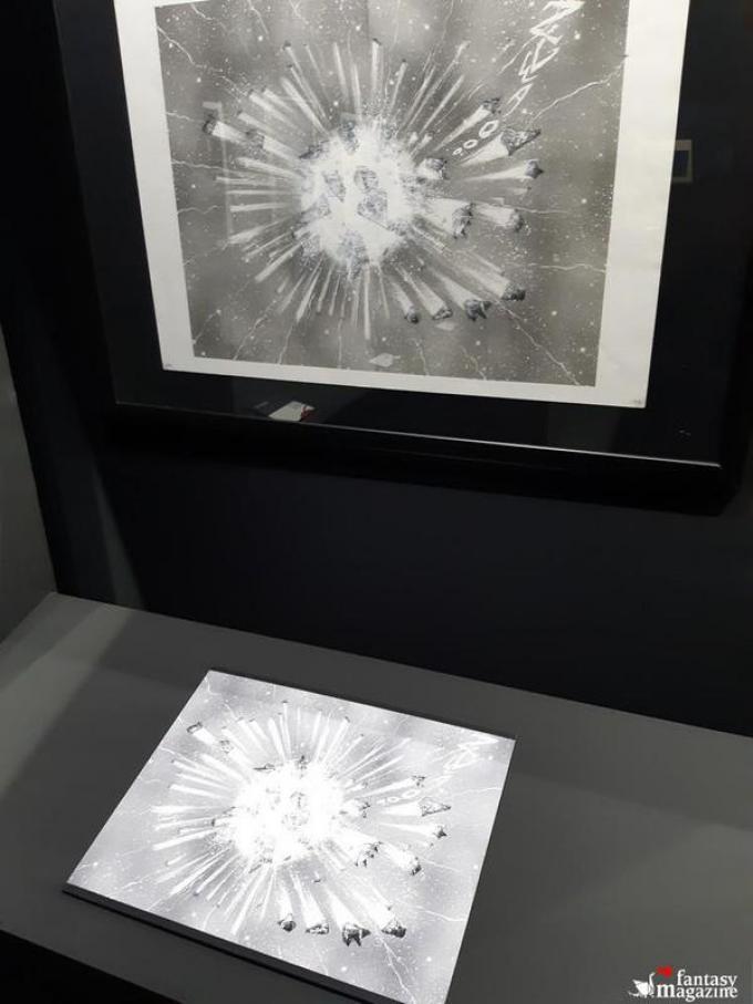 La mostra di Leiji Matsumoto al Palazzo Ducale a Lucca Comics and Games. Foto di Maurizio Carnago