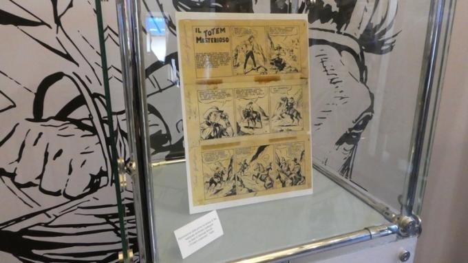 Alcune tavole originali di Tex esposte alla Tex Experience a Lucca Comics & Games.