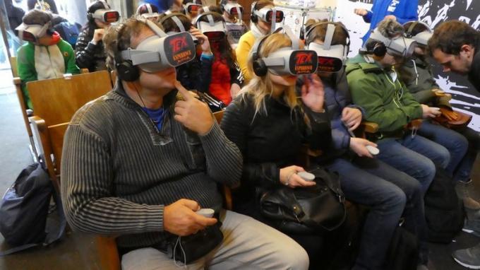 Immersione totale con OculusGo alla Tex Experience a Lucca Comics & Games.