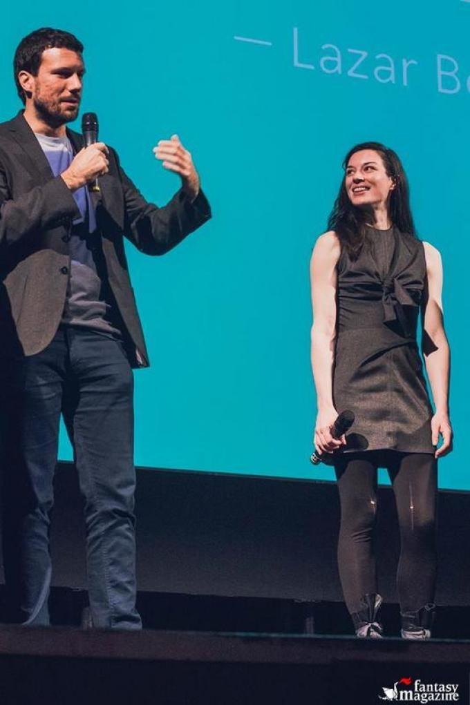 Il regista Lazar Bodro�a e l'attrice Stoya (foto cortesia Trieste Science Plus Fiction)
