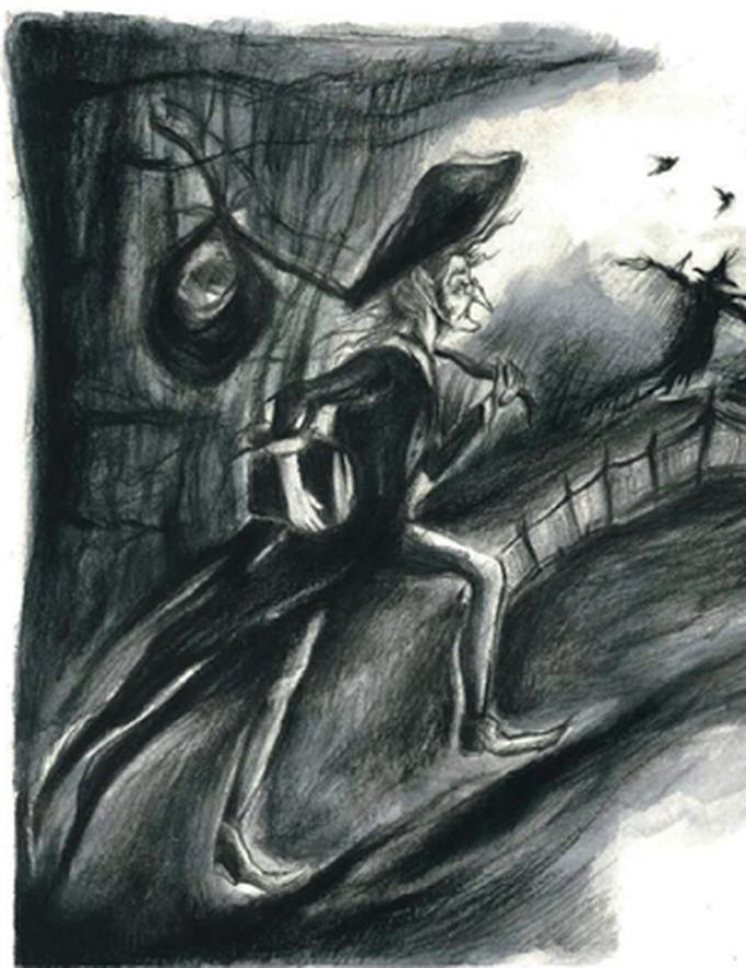 La leggenda di Sleepy Hollow - Disegno di Diana Gallese