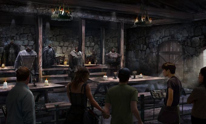 Il refettorio del Castello Nero