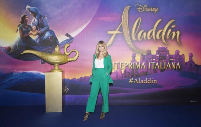 Barbara Snellenburg all'anteprima di Aladdin a Milano.