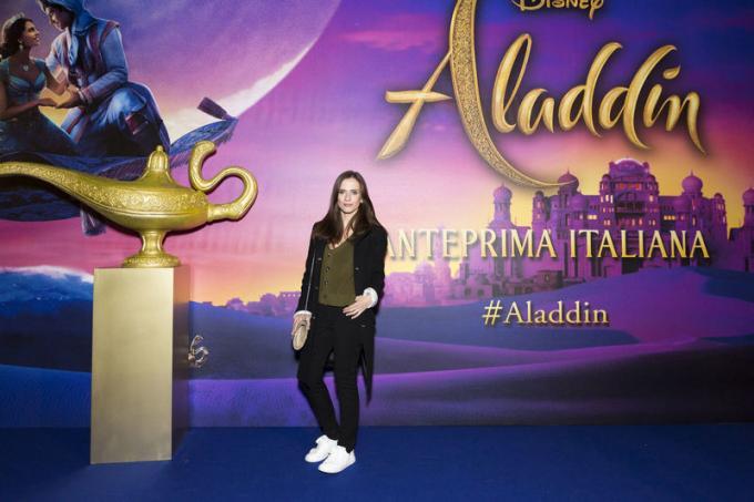 Chiara Iezzi all'anteprima di Aladdin a Milano.