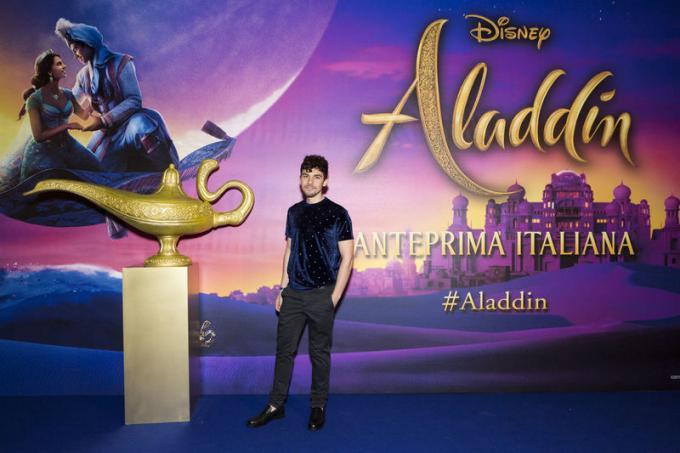Daniele Giannazzo all'anteprima di Aladdin a Milano.
